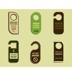 Stylish farm fresh brand door badge sticker vector