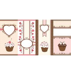 Set of romantic banners vector