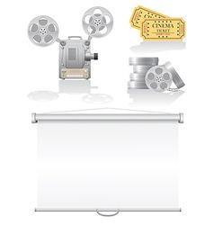 Set cinema icons vector