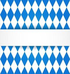 Oktoberfest background bavarian flag pattern vector