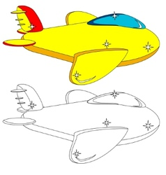 Color and outline version of the aircraft vector