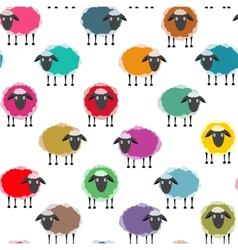 Colorful seamless sheep pattern vector