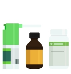 Modern medicine bottles set vector