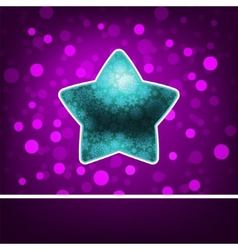 Blue star on fiolet abstract happy new year eps 8 vector