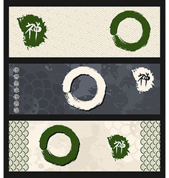 Zen circles banner set vector