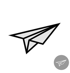 Paper airplane simple icon vector