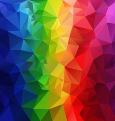 Rainbow spectrum striped polygonal triangular vector