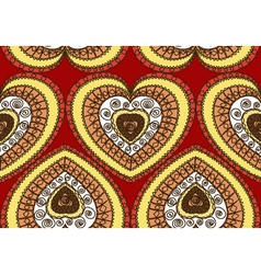 Seamless ornament of hearts vector