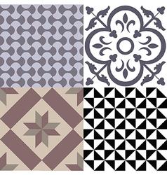 Vintage cement tiles vector