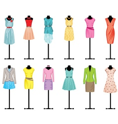 Mannequins with women clothing vector