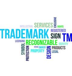 Word cloud trademark vector