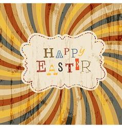 Easter retro sunrays vector