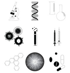 Medical research icons set vector