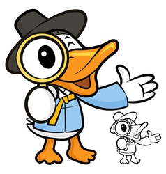 The magnifying glass to see the duck vector