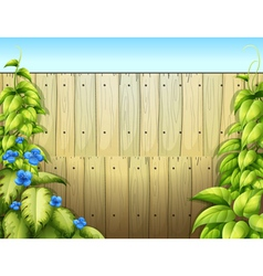 The high wooden fence vector