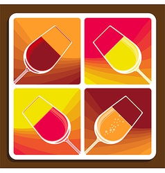 Wine varieties vector