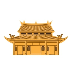 Chinese temple isolated on white vector