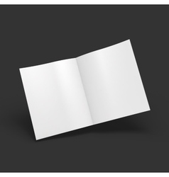 White blank magazine spread business mockup vector