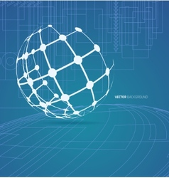 Techno globe background vector