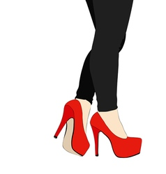 Legs and shoes with heels number 015 vector