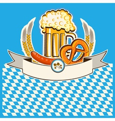 Beer card bavaria background vector