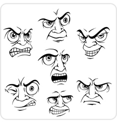 Negative emotions - set vector