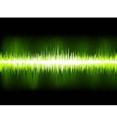 Sound waves oscillating on black eps 10 vector
