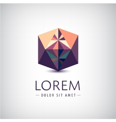Crystal abstract icon logo vector