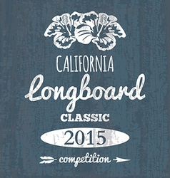 California longboard competition t-shirt graphic vector