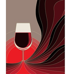 Birth of red wine vector