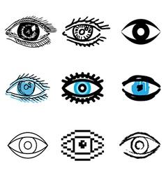 Icons eye vector