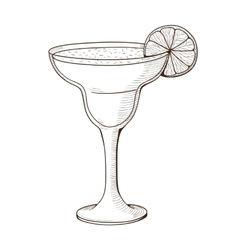 Margarita cocktail in a glass vector