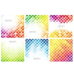 Set of abstract colorful backgrounds vector