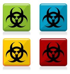 Biohazard sign buttons vector