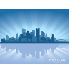 Pittsburgh pennsylvania skyline vector