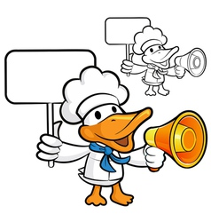 Loudspeaker to promote the duck chef vector