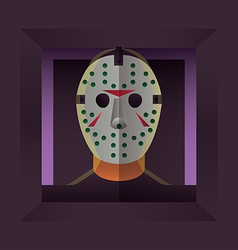 Halloween character hockey mask vector