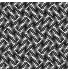 Design seamless monochrome waving pattern vector