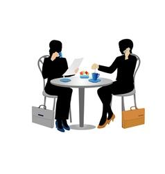 Two businesswomen vector