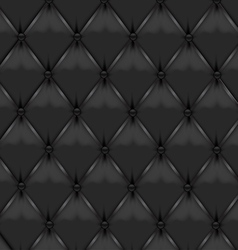 Black leather upholstery vector