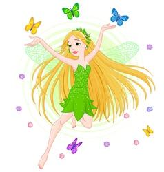 Spring fairy vector