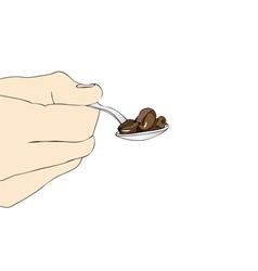 A teaspoon of coffee vector