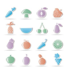 Fruits and veges vector