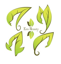 Ecology and beauty vector