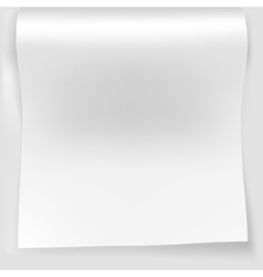 Blank white sheet of curved vector