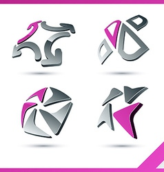 Pink company signs vector