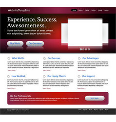 Red website template vector