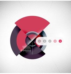 Circle geometric shapes flat interface design vector