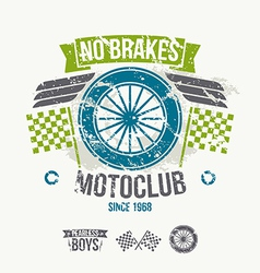 Emblem of the motorcycle club in retro style vector