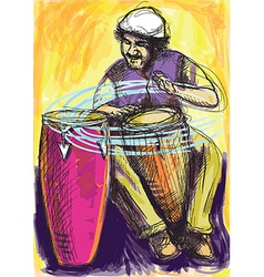 Musician - conga player vector